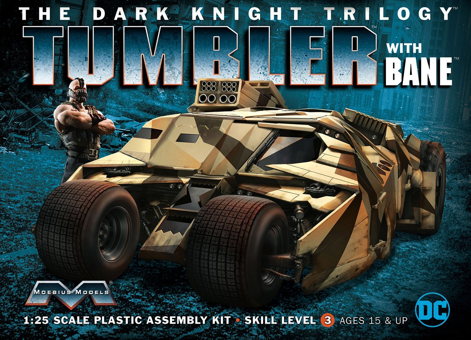 Dark Knight Armored Tumbler w/Bane 1:25 Scale Model Kit