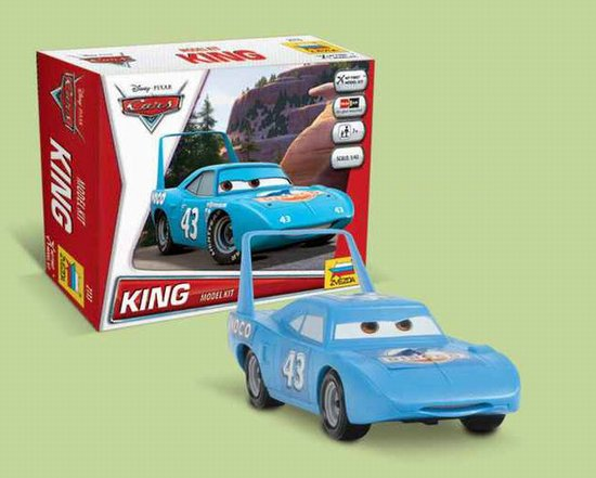 """King"" Disney Pixar ""Cars/Cars2"" 1/43 Snap Model Kit"