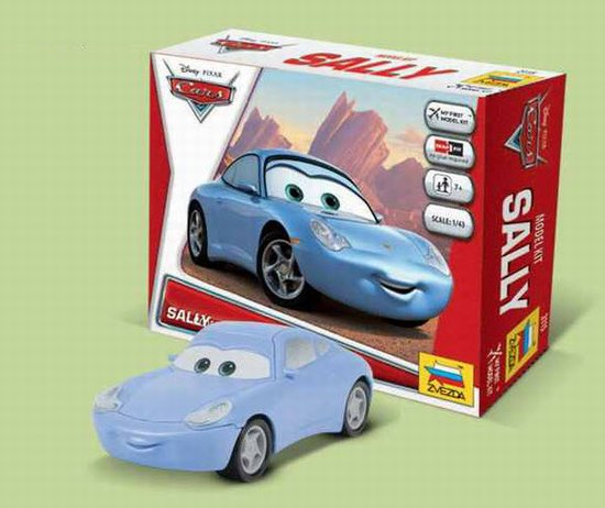 """Sally"" Disney Pixar ""Cars/Cars2"" 1/43 Snap Model Kit"
