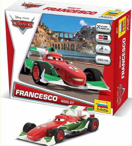 """Francesco"" Disney Pixar ""Cars/Cars2"" 1/43 Snap Model Kit"