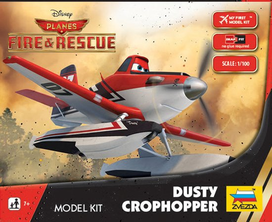 """Dusty Crophopper"" Disney Pixar ""Planes 2"" 1/100 Snap Model Kit"