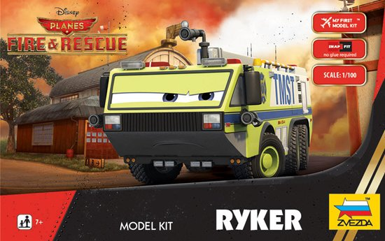 """Ryker"" Disney Pixar ""Planes 2"" 1/100 Snap Model Kit"
