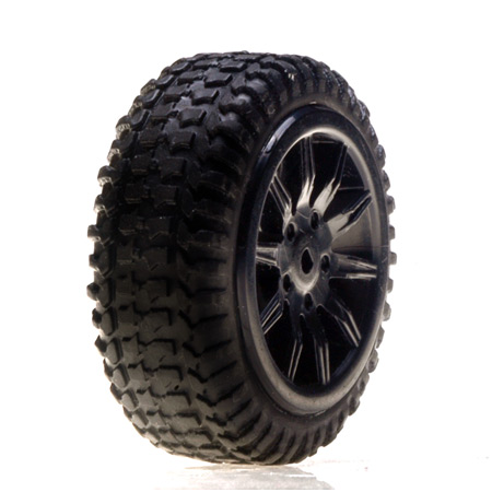 Tires Mounted Black: Micro Rally (4pk)