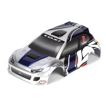 1/24 4WD Rally Painted Body - Silver/Blue