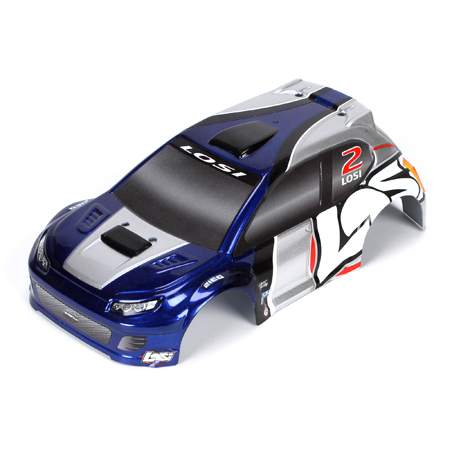 1/24 4WD Rally Painted Body - Blue/Silver