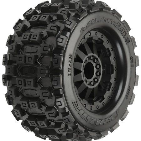 "1/10 Badlands MX28 2.8"" Tires Mounted Front/Rear"