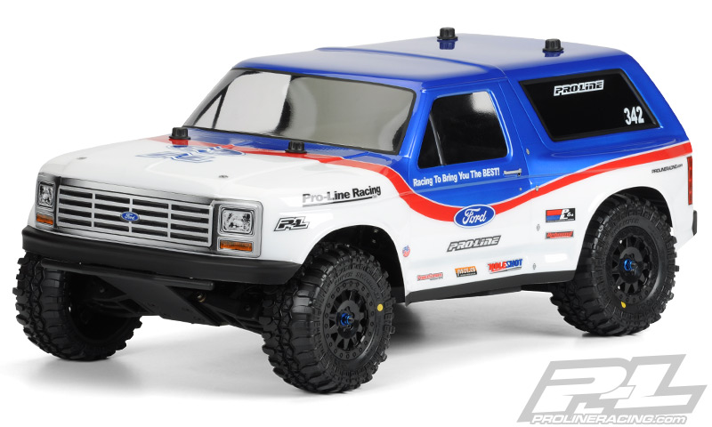 1981 Ford Bronco Clear Body for PRO-2 SC, Slash, Slash 4x4 and SC10