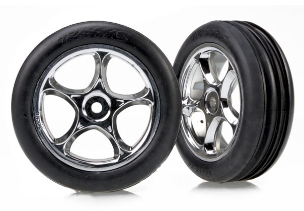 "Tracer Front 2.2"" Chrome Wheels with Alias Tires (2)"