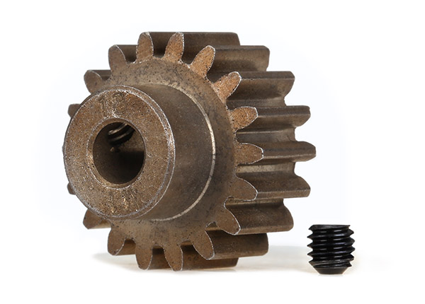 Gear 18T pinion 1.0 metric pitch for 5mm shaft