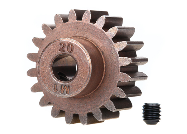 Gear 20T pinion 1.0 metric pitch for 5mm shaft
