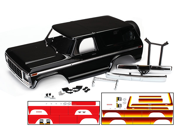 Ford Bronco Body TRX-4 Painted w/Decals