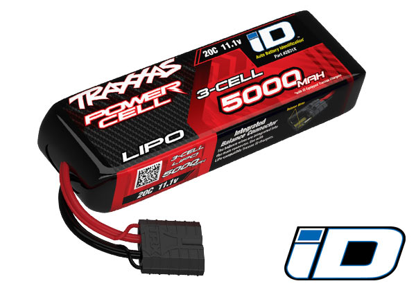 20C 11.1V 5000mAh 3-Cell Lipo Battery w/TRA ID