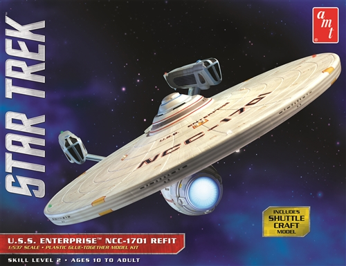 Star Trek USS Enterprise Refit 1/537 Plastic Model Kit