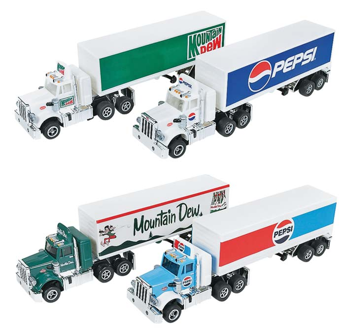 RR Rel 4 Pepsi / Mountain Dew set of 4