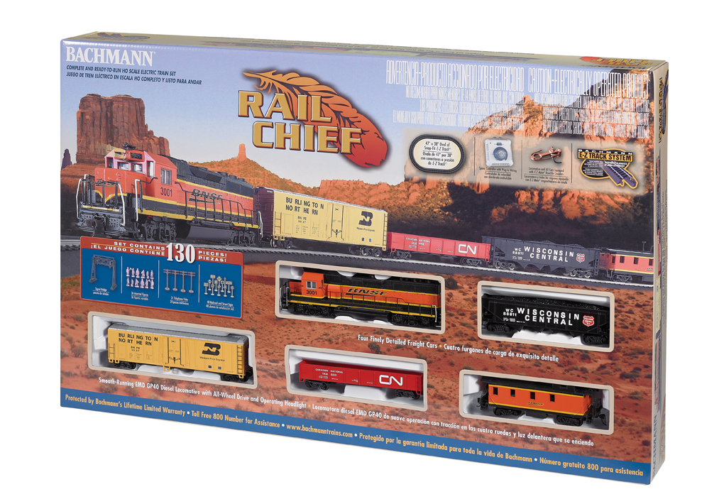 HO Rail Chief Train Set