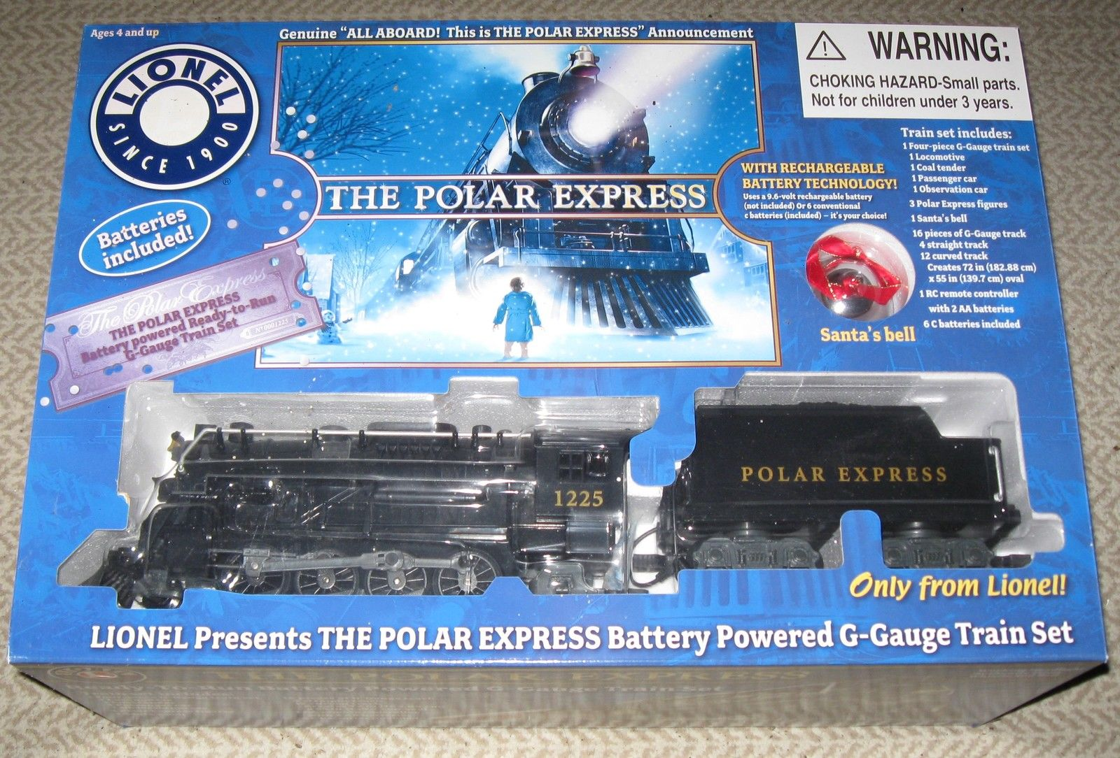 G-Scale The Polar Express Battery Train Set